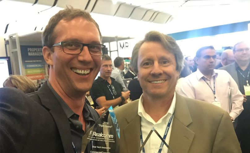 Michael Jansen with Realcomm CEO, Jim Young